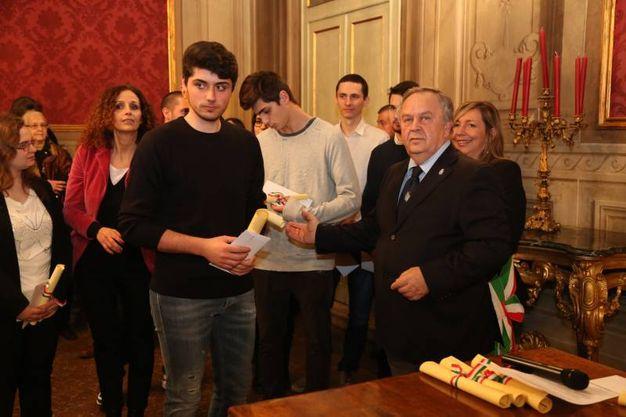 Uno degli studenti premiati (Foto Schicchi)