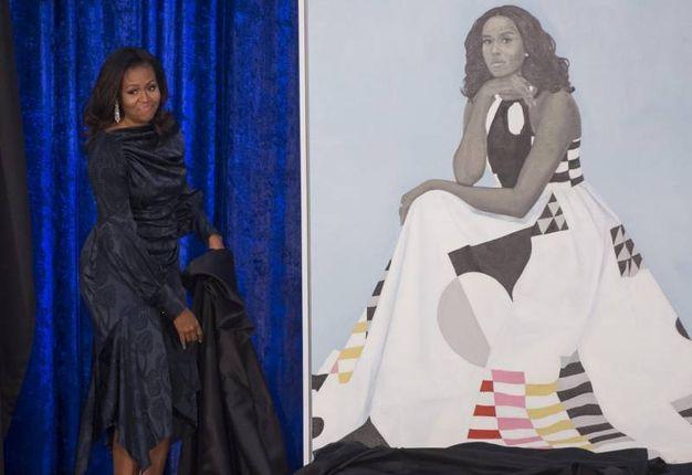 Barack e Michelle Obama svelano i loro nuovi ritratti (Lapresse)