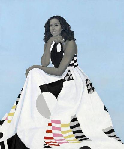 Il ritratto di Michelle Obama (Ansa)