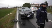 I rilievi sul luogo dell'incidente (Foto Corelli)