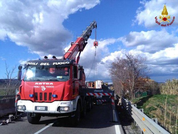 La rimozione del camion