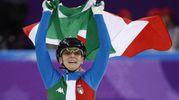 Arianna Fontana oro nei 500 metri short track (Ansa)