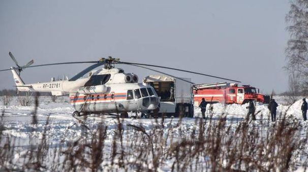 Aereo russo caduto (foto Lapresse)