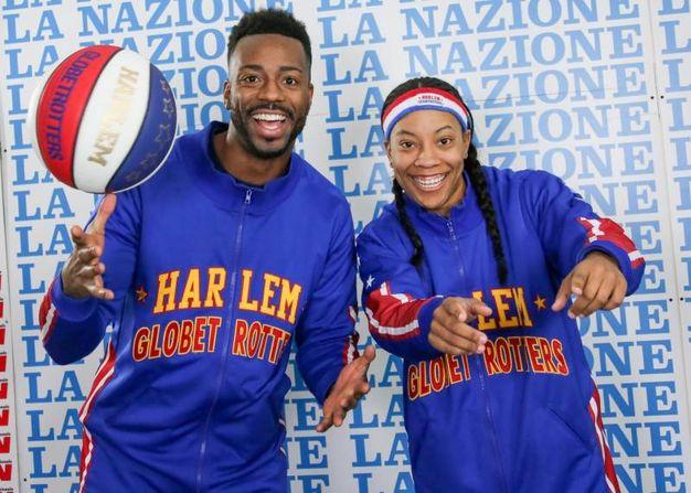 """Harlem Globetrotters alla Nazione: Bria """"Swish"""" Young e DeAndre """"Dragon"""" Tayler (Germogli)"""
