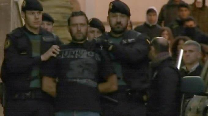 Norbert Feher dopo la cattura in Spagna (foto Ansa)