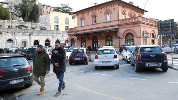 Il parcheggio della stazione di Sant'Anna