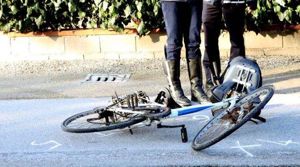 Cesenatico, la bici dopo l'incidente (foto Ravaglia)