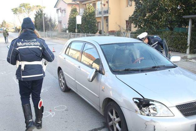 L'auto dopo l'incidente (foto Ravaglia)