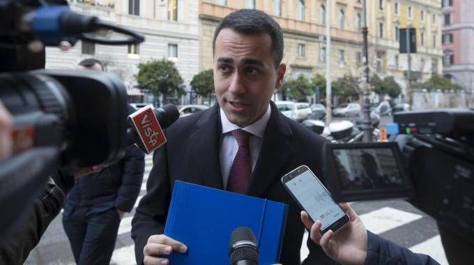 Luigi Di Maio al ministero dell'Economia (Lapresse)