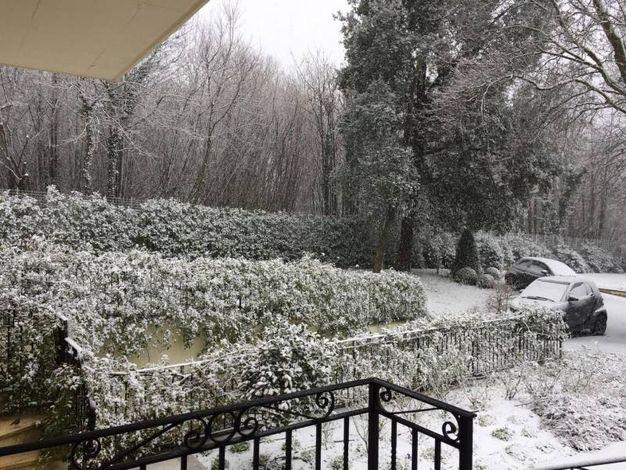 Maltempo: neve alle porte di Roma (Ansa)