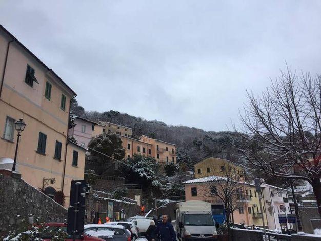 Maltempo: neve all'isola d'Elba, scuole chiuse (Ansa)