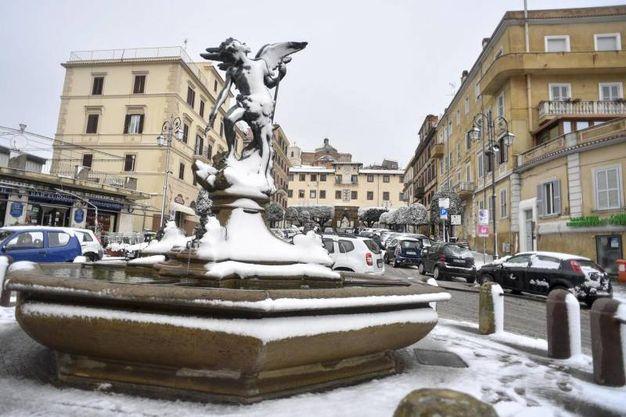 Maltempo: neve sui castelli romani (Lapresse)
