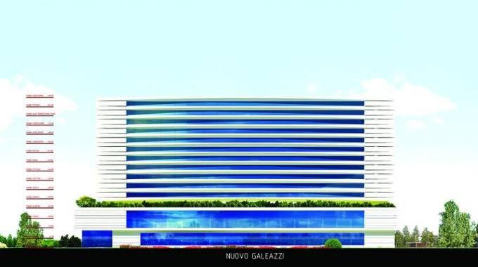 Il rendering del progetto del nuovo Galeazzi