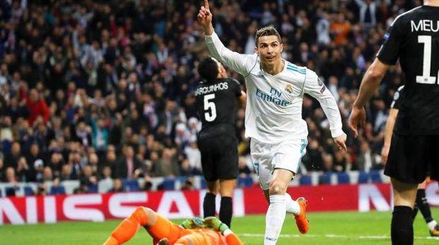 Real Madrid-Psg 3-1, doppietta di Cristiano Ronaldo (Ansa)
