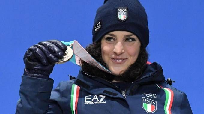 Federica Brignone bronzo nello slalom gigante (Afp)
