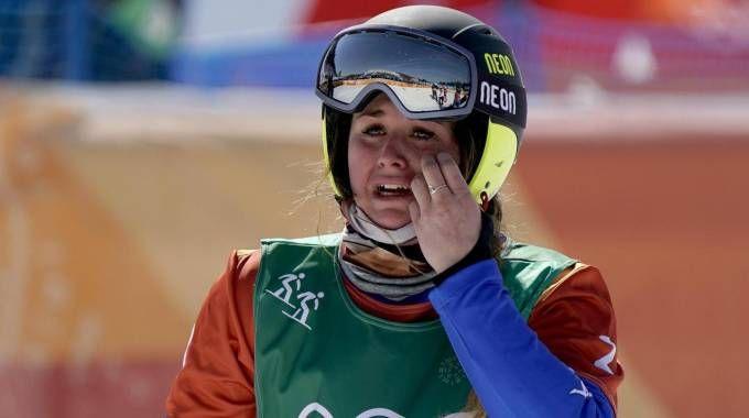 Olimpiadi invernali 2018, Michela Moioli vince l'oro nello snowboard (Ansa)
