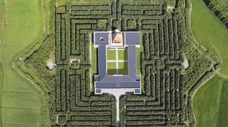 Una veduta aerea del Labirinto a Fontanello, Parma (Ansa)