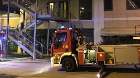 L'intervento dei vigili del fuoco a Formigine