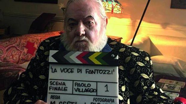 Paolo Villaggio  sul set del docufilm del regista Mario Sesti