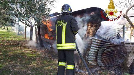 L'incendio del capanno