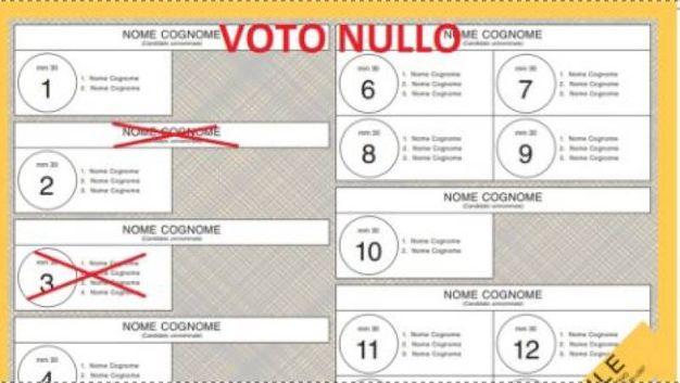 Un segno su un candidato uninominale e uno su una lista non collegata è voto nullo