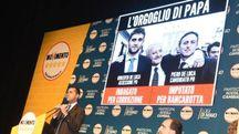 Luigi Di Maio durante un incontro elettorale a Genova (Ansa)