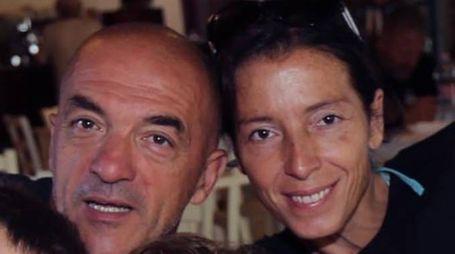 Silvia Carloncini col marito, Massimo Fiorini