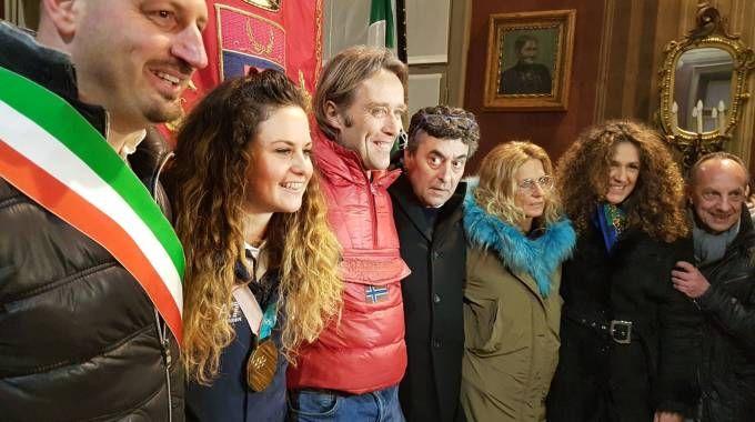 L'arrivo di Michela Moioli ad Alzano Lombardo
