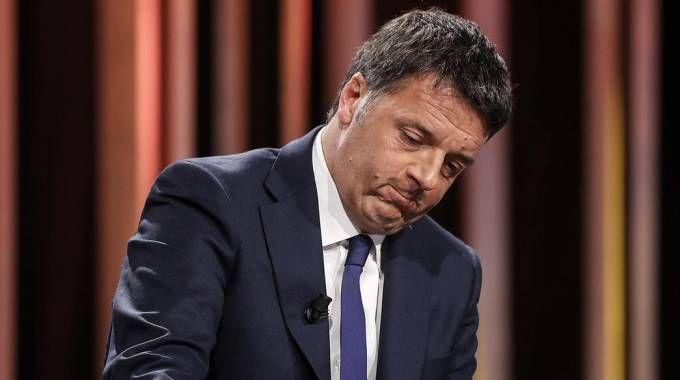 Matteo Renzi ospite a 'In 1/2 ora in più' (Ansa)