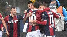 Bologna-Sassuolo 2-1, l'esultanza di Pulgar (FotoSchicchi)