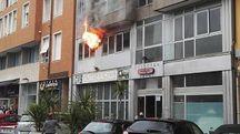 Le fiamme dalla finestra (Fotoprint)