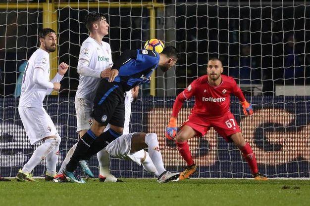 Atalanta-Fiorentina 1-1, Petagna (Ansa)