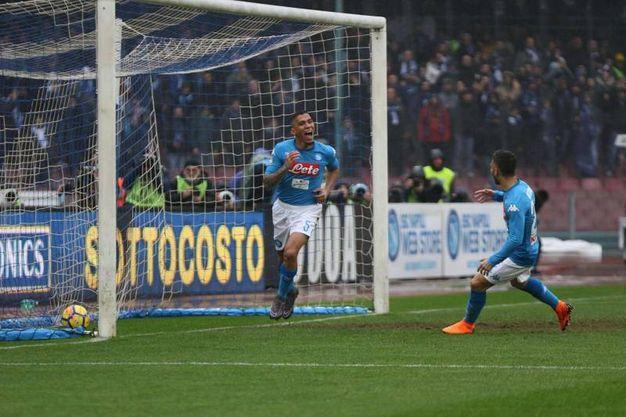 Napoli-Spal 1-0, Allan (Ansa)