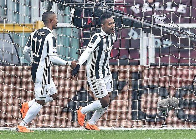 Torino-Juventus 0-1, Alex Sandro (Ansa)