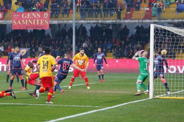 Benevento-Crotone 2-2, Diabatè (Ansa)