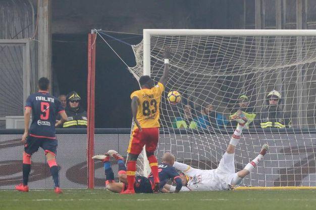 Benevento-Crotone 2-2, Benali (Ansa)