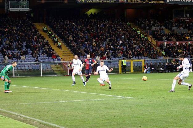 Genoa-Inter 1-0, autogol Ranocchia (Lapresse)