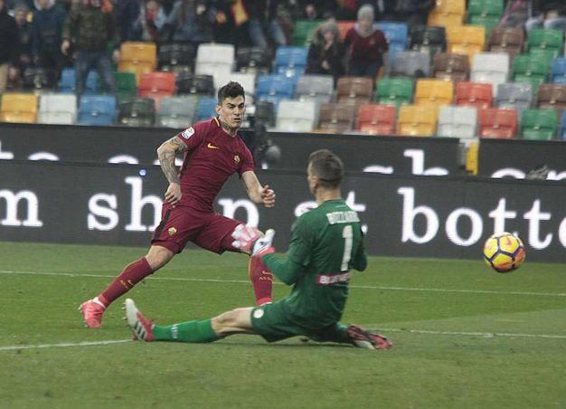 Udinese-Roma 0-2, Perotti (Ansa)