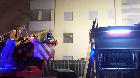 L'incendio nell'abitazione di Cerro Maggiore (Studio Sally)