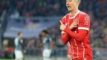 Robert Lewandowski. autore del gol vittoria del Bayern Monaco