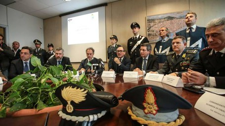 Blitz anti 'ndrangheta, la conferenza stampa dopo l'operazione (Cabras/New Press Photo)