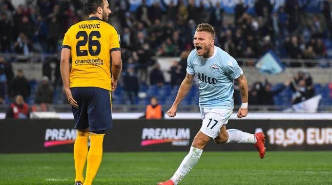 Lazio-Verona 1-0, Immobile (Ansa)