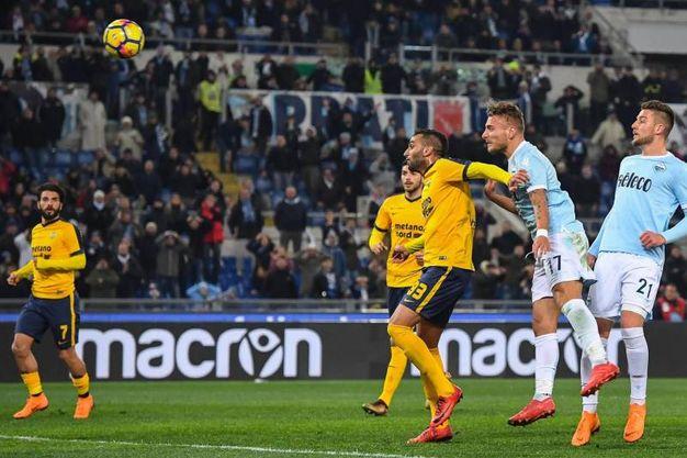 Lazio-Verona 2-0, Immobile (Ansa)