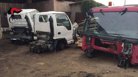 Motrici di camion rubati