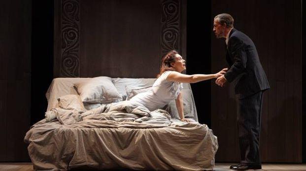 Elena Sofia Ricci e Gianmarco Tognazzi sul palco
