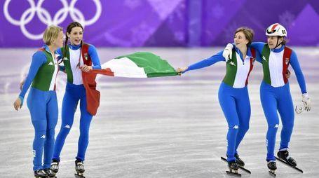 Argento Italia nello short track