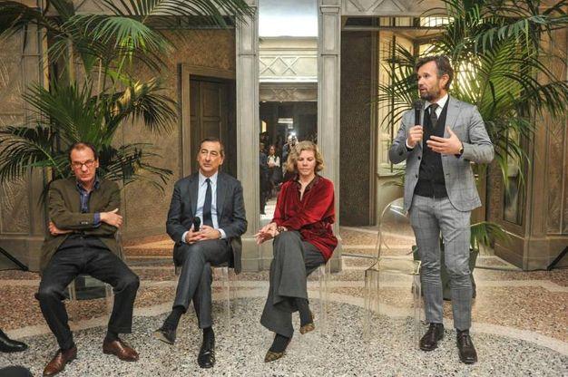 La presentazione del ristorante'Cracco' in Galleria Vittorio Emanuele (Lapresse)