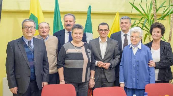 Al centro Bartelli con i rappresentanti di Coldiretti