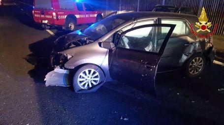 L'incidente in A8 a Olgiate Olona