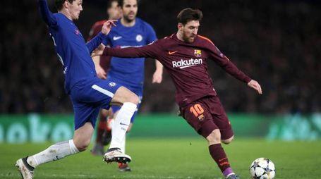 Chelsea-Barcellona, Messi (LaPresse)